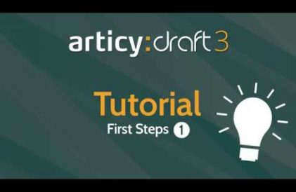 articy:draft 3 First Steps Tutorial #1 video title
