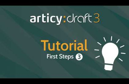 articy:draft 3 First Steps Tutorial #3 video title
