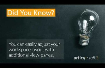 articy:draft 3 did you know? quicktip about adding additional viewpanes to adjust workspace