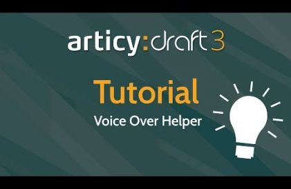 articy:draft 3 Voice Over Helper tutorial title thumbnail