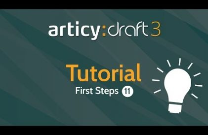 articy:draft 3 First Steps Tutorial #11 video title