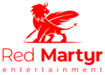 Red Martyr Entertainment Logo. Icon with winged lion