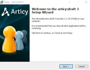 screenshot of the installer