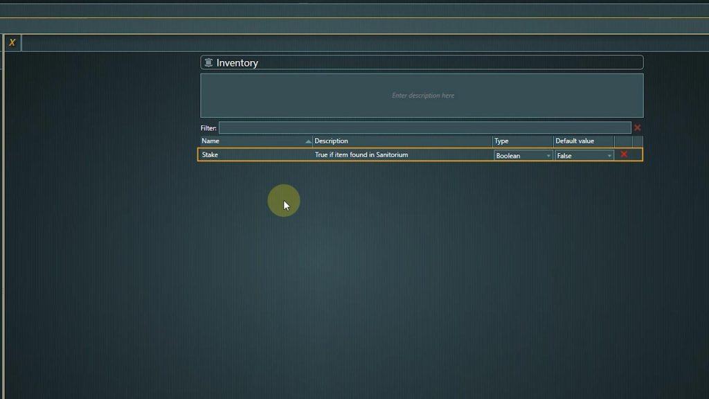 Global Variables screenshot of variable settings
