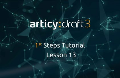 articy:draft 1st Steps Tutorial Series - Lesson 13