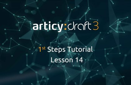 articy:draft 1st Steps Tutorial Series - Lesson 14