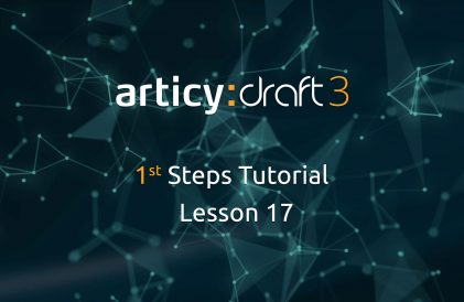 articy:draft 1st Steps Tutorial Series - Lesson 17