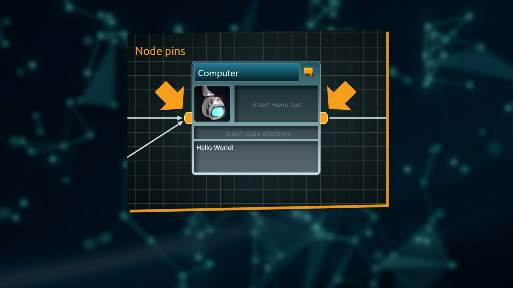 Conditions can go into input-pin, Instructions go into output-pin